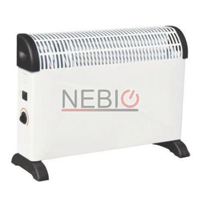 Convector electric Hausberg HB-8200, 2000 W, 3 trepte incalzire, Alb