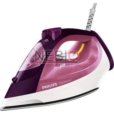 Fier de calcat Philips Smooth Care GC3581/30, Talpa EasyFlow Ceramic, 2400 W, 0.4 l, 170 g/min, Functie curatare Calc Clean, Mov