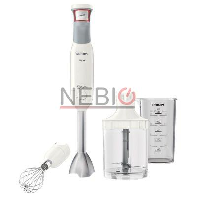 Mixer vertical Philips Avance Collection ProMix HR1643/00, 700 W, Speed Touch + Functie Turbo, 0.6 l, Tocator XL 1 l, Alb