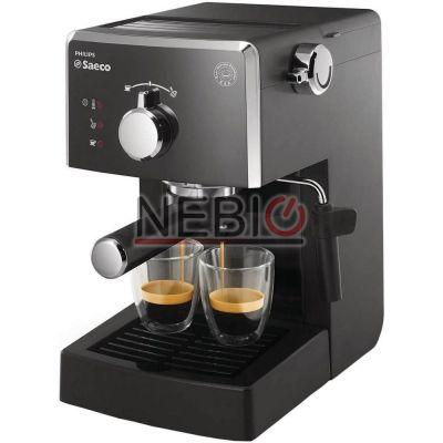 Espressor manual Saeco Poemia Philips HD8423/19, Dispozitiv spumare, 15 Bar, 1.25 l, Negru