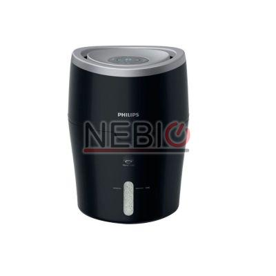 Umidificator de aer Philips HU4813/10, Tehnologie NanoCloud, Rezervor 2l, Acoperire 44mp, Umidificare 300 ml/h, Led, Negru