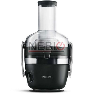 Storcator de fructe si legume Philips Avance Collection HR1919/70, 1000 W, Recipient suc 1 l, Recipient pulpa 2.1 l, 2 Viteze Fiberboost, Tub de alimentare XXL 80 mm, Negru