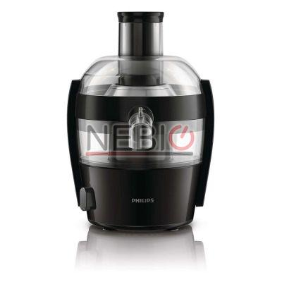 Storcator de fructe si legume Philips Viva Collection, 500 W, Recipient suc 0.5 l, Recipient pulpa 1 l, 1 Viteza, Tub de alimentare 55 mm, Negru/Argintiu