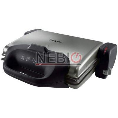 Gratar electric Philips HD4467/90, 2000 W, Negru