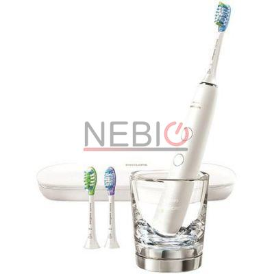 Periuta de dinti electrica Philips Sonicare DiamondClean Smart HX9903/03, 4 moduri, 3 setari de intensitate, Aplicatia Connected brushing, 3 capate de periere, Recunoasterea capului de periere, toc transport, Alb