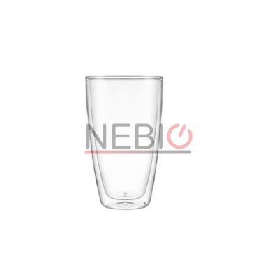 Set 2 pahare bauturi calde Montana 057225, Model Tumbler DW Enjoy, Inaltime 14 cm, Diametru 7 cm, 250 ml, Transparent