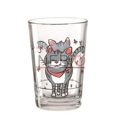 Pahar Montana 021085, Model Tumbler Cat, Inaltime 10 cm, Diametru 7 cm, 210 ml, Transparent