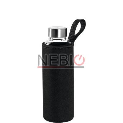 Sticla To go Montana 018855, 500 ml, Husa neagra, Transparent