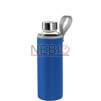 Sticla To go Montana 018857, 500 ml, Husa albastra, Transparent