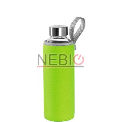 Sticla To go Montana 018856, 500 ml, Husa verde, Transparent