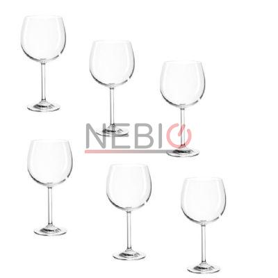 Set 6 pahare de vin rosu Montana 042433, Model Bordeau Pure, 630 ml, Inaltime 22 cm, Diametru 9 cm, Transparent