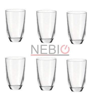 Set 6 pahare bauturi reci Montana 057400, Model Tumblers LD Today, Inaltime 13 cm, Diametru 9 cm, 430 ml, Transparent