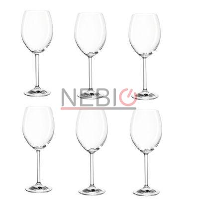 Set 6 pahare de vin rosu Montana 042385, Model Redwine Pure, Inaltime 22 cm, Diametru 7 cm, 390 ml, Transparent