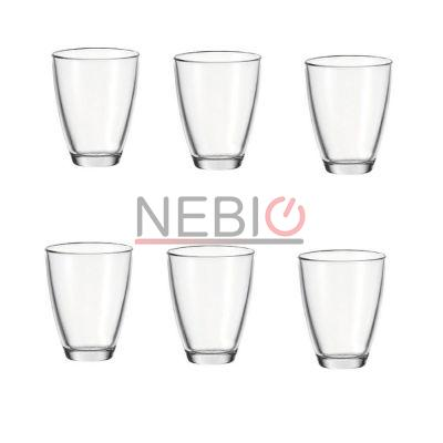 Set 6 pahare bauturi reci Montana 057399, Model Tumblers WH Today, Inaltime 11 cm, Diametru 9 cm, 350 ml, Transparent